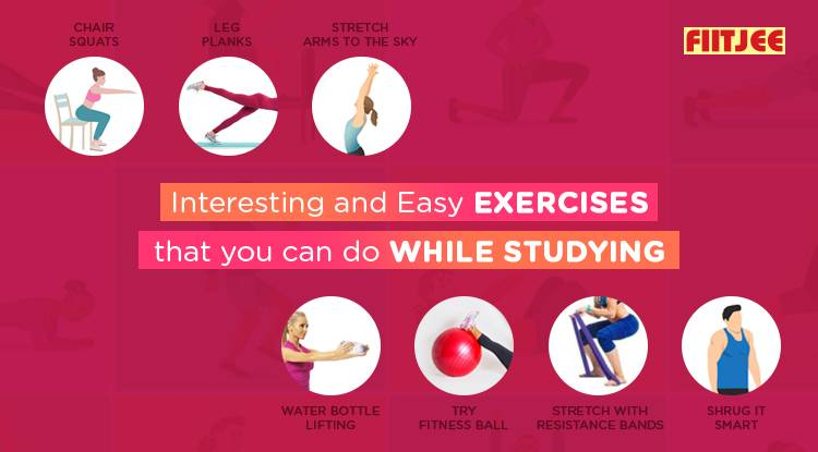 Interesting and Easy Exercises That You Can Do While Studying
